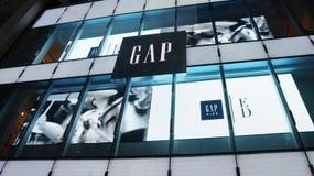Gaps Hong Kong flagship store at Queens Road Central, Central, Hong Kong. Opened in December 2011, Gaps Hong Kong flagship store is 15,000 square feet and spans Stock Image