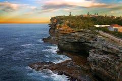 The Gaps, Watson Bay, Sydney. The Gap, a spectacular ocean cliff at Watsons Bay, near South Head, Sydney Stock Photography