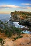 The Gaps, Watson Bay, Sydney. The Gap, a spectacular ocean cliff at Watsons Bay, near South Head, Sydney Stock Photos