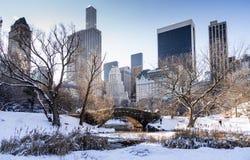 Gapstow Brücke in Central Park Stockbild