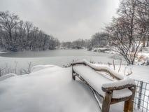gapstow bridżowa zima zdjęcia royalty free