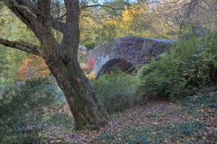Gapstow bridge in autumn Royalty Free Stock Photos
