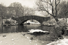 Gapstow bridge - Central Park Stock Photos