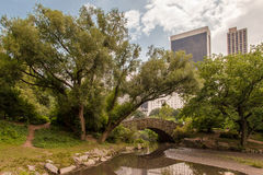 Gapstow Bridge Central Park New York City Stock Photo