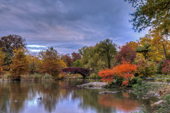 Gapstow bridge Central Park, New York City Stock Images