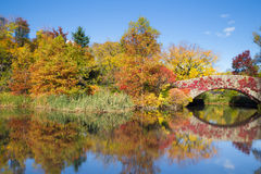 Gapstow Bridge Central Park NYC Royalty Free Stock Images