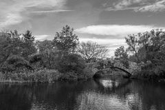 Gapstow bridge in a colorfull fall morning Royalty Free Stock Images