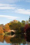 Gapstow bridge in a colorfull fall morning Stock Image