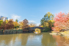 The Gapstow Bridge over The Pond Royalty Free Stock Photo