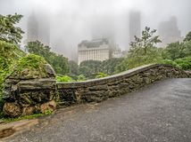 Gapstow Bridge on rainy day royalty free stock photos