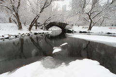 Gapstow bridge in winter Royalty Free Stock Photography