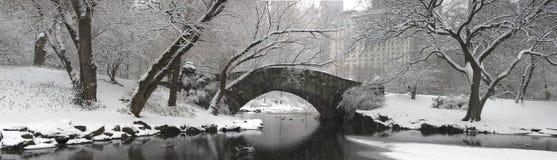 Gapstow bridge in winter Royalty Free Stock Photo