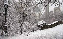 Gapstow bridge in winter Royalty Free Stock Photos