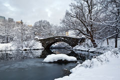Gapstow bridge in winter Royalty Free Stock Images