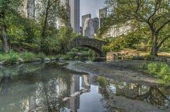 Gapstow bro Central Park, New York City Royaltyfri Bild