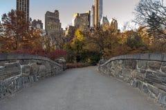 Gapstow mosta central park, Miasto Nowy Jork Zdjęcie Stock