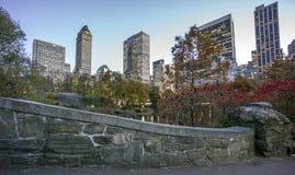 Gapstow mosta central park, Miasto Nowy Jork Fotografia Stock