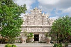 Gapura agung -在taman莎丽服水城堡的主闸- jogjakatra苏丹王国的皇家庭院  免版税库存照片