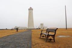 Garðskagaviti灯塔在冰岛 免版税图库摄影