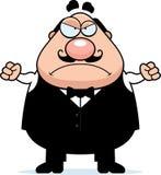 Garçom irritado dos desenhos animados Fotos de Stock Royalty Free