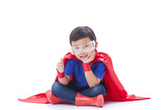 Garçon à être un super héros Photos libres de droits