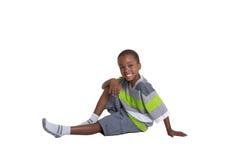 Garçon âgé jeune par école Photo libre de droits