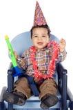 Garçon adorable célébrant votre anniversaire photos stock