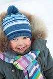 Garçon adorable en hiver Photos stock