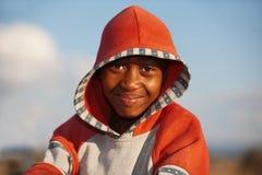 Garçon africain heureux Photographie stock