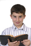 Garçon avec la bible images libres de droits