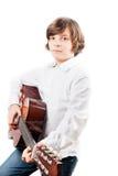 Garçon avec la guitare Images libres de droits