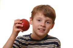 Garçon avec la pomme image libre de droits