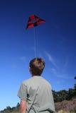 Garçon avec le cerf-volant Images stock