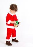 Garçon avec le costume de Santa image stock