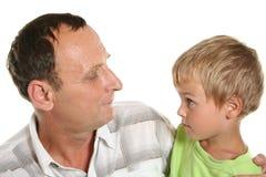 Garçon avec le père Photo stock