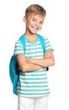 Garçon avec le sac à dos Photo libre de droits