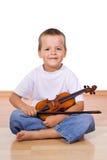 Garçon avec le violon Images stock