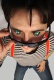 Garçon avec les yeux en verre Image stock