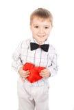 Garçon avec un coeur Photographie stock libre de droits