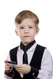 Le jeu d'enfant est un banquier, le vendeur, l'acheteur image stock