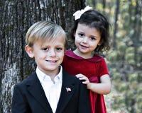 Garçon beau et jolie fille photo libre de droits