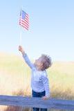 Garçon célébrant le Jour de la Déclaration d'Indépendance Photos stock