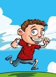 Garçon courant de dessin animé Photo libre de droits
