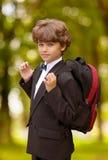 Garçon d'école Image libre de droits