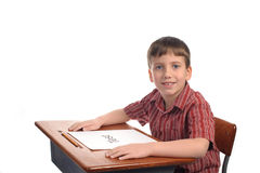Garçon d'école Photo libre de droits