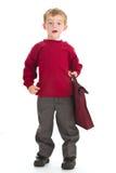 Garçon d'école dans l'uniforme Image libre de droits