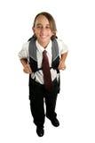Garçon d'école heureux Photo stock