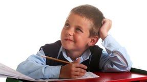 Garçon d'école primaire Photos libres de droits