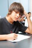 Garçon d'école sérieux Photographie stock libre de droits