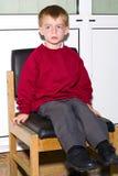 Garçon d'école vilain Images libres de droits